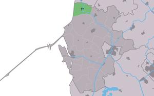 Kimswerd - Image: Map NL Wûnseradiel Kimswert