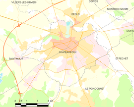 Mapa obce Châteauroux