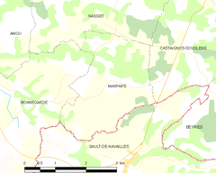 Map commune FR insee code 40173.png