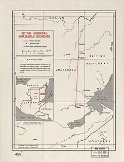 Belize–Guatemala border international border