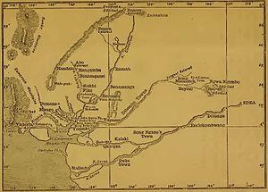 Leopold Janikowski - Map of Cameroons (1884)