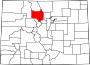 Map of Colorado highlighting Grand County.svg