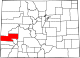 Map of Colorado highlighting Montrose County.svg