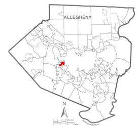 Map of Crafton, Allegheny County, Pennsylvania Highlighted.png