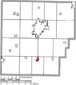 Map of Hancock County Ohio Highlighting Arlington Village.png