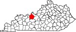 State map highlighting Breckinridge County