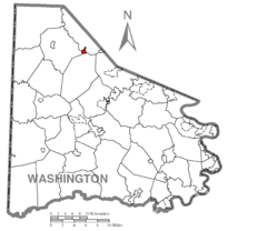 Map of Midway, Washington County, Pennsylvania Highlighted.png