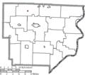 Map of Monroe County Ohio Highlighting Miltonsburg Village.png