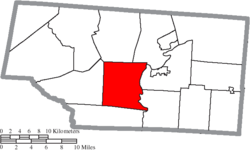 Location of Newton Township in Pike County