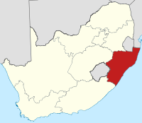 Map of South Africa with KwaZulu-Natal highlighted.svg