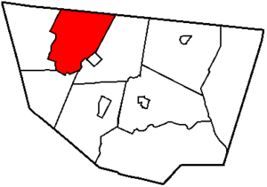 Elkland Township, Sullivan County, Pennsylvania - Image: Map of Sullivan County Pennsylvania Highlighting Elkland Township