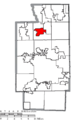 Map of Summit County Ohio Highlighting Peninsula Village.png