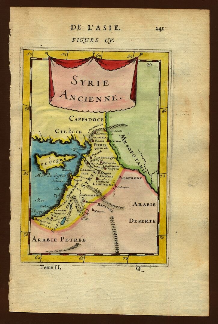 Map of ancient Syria, Description de L'Universe (Alain Manesson Mallet, 1683)
