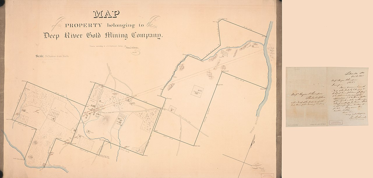 File:Map of property belonging to the Deep River Gold Mining Company ...