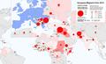 Map of the European Migrant Crisis 2015 - Asylum applicants' countries of origin.png