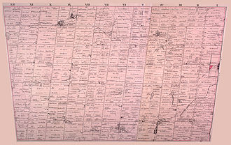 King, Ontario - A map of the southern portion of King Township from 1878. At the time, the township's boundaries extended to Yonge Street. The area between Bathurst Street and Yonge Street, shown as lots 61-95 on the map, have since been ceded to Richmond Hill, Aurora, and Newmarket.