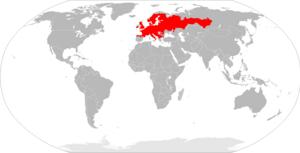 Bank vole - Image: Mapa Myodes glareolus