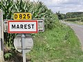 Marest-Dampcourt (Aisne) city limit sign Marest.JPG