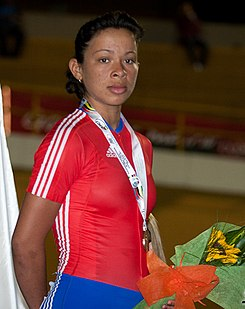 Marlies Mejías Campeonato Panamericano de Ciclismo 2011.jpg