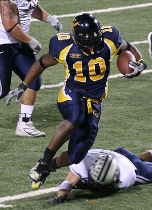 Cal running back Marshawn Lynch at the 2005 La...
