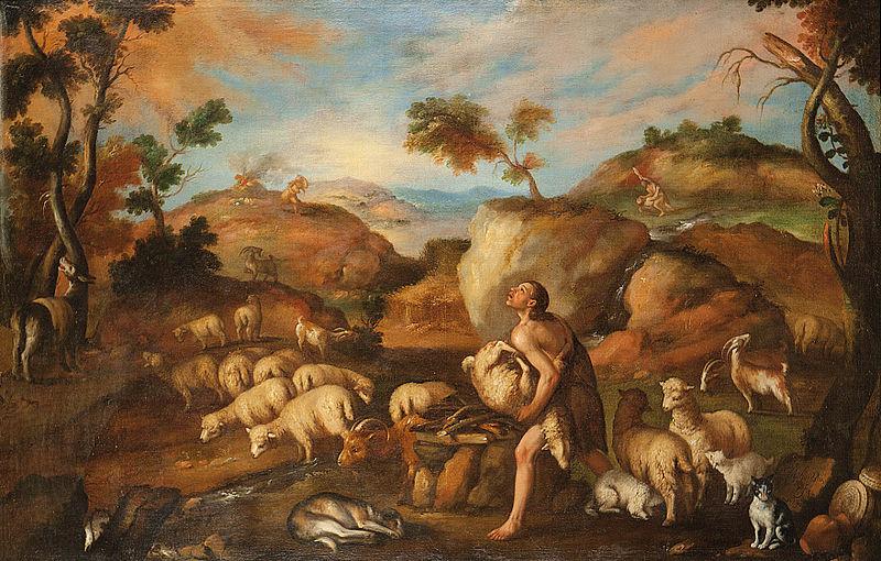 Caín y Abel, óleo sobre lienzo, 107 x 165 cm