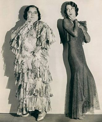Mathilde Comont - Publicity still with Mathilde Comont (left) and Frances Dee for Along Came Youth (1930)