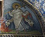 Mausoleo di galla placidia, int., san lorenzo alla graticola e armadio dei 4 vangeli, 02.JPG