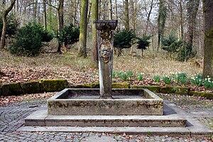 Deutsch: Marx-Horkheimer-Brunnen im ehemaligen...