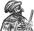 Maxym Kryvonis (woodcut of Kryvonis's likeness, probably a Polish caricature).jpg