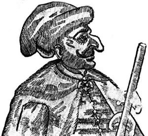Maksym Kryvonis - Image: Maxym Kryvonis (woodcut of Kryvonis's likeness, probably a Polish caricature)