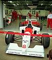Mclaren MP4-10B - Mark Blundell in the pit garage at the 1995 British GP, Silverstone (49713881997).jpg