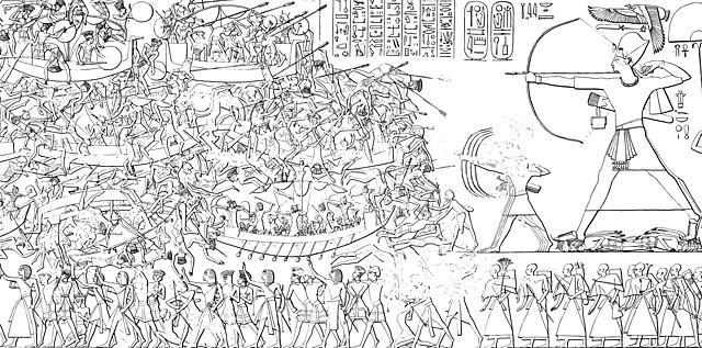 640px-Medinet_Habu_Ramses_III._Tempel_Nordostwand_Abzeichnung_01.jpg