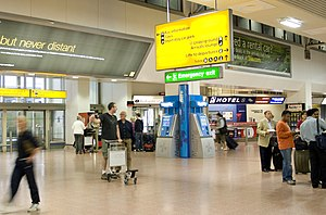 Heathrow Terminal 4 - Arrivals at Terminal 4, prior to refurbishment in 2012