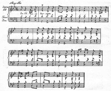 """Melodja z XVI w. do pieśni """"Zakłółam się tarniem"""", przepisana ..."""