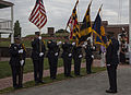 Members of the Baltimore City Fire Department Honor Guard take part in a 9-11 memorial at the Fort McHenry National Monument and Historic Shrine in Baltimore Sept 140911-M-EA576-091.jpg
