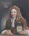 Memorial portrait of Thomas Tompion, Clockmaker, a friend of Robert Hooke.JPG