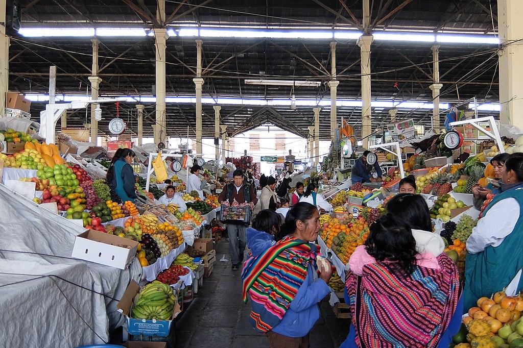 Mercado frutas en cuzco