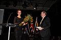 Meta Louise Foldager tar emot Nordiska radets filmpris 2009 vid sessionen i Stockholm 2009.jpg