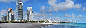 English: Panoramic image of South Beach