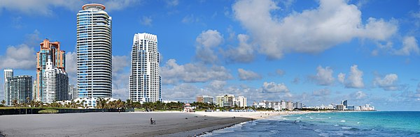 Anvista panoramica de South Beach, en Miami Beach.