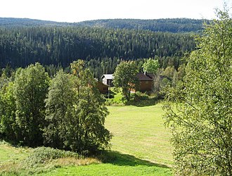 Tarjei Vesaas - Midtbø in Vinje, site of the home of novelist Tarjei Vesaas and poet Halldis Moren Vesaas