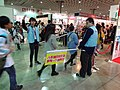 Mighty Media booth visitors running in Taipei International Comics & Animation Festival 20160211.jpg