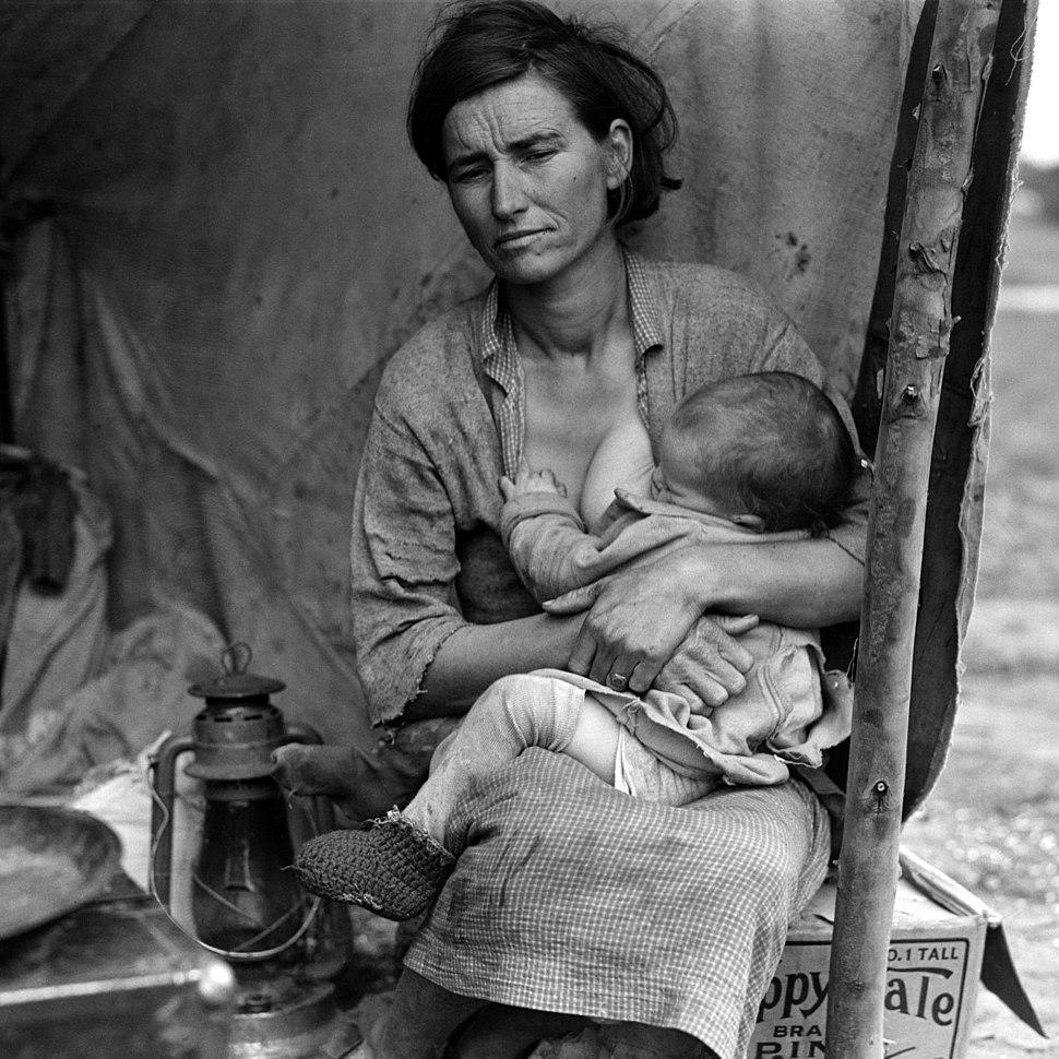 Migrant Mother, alternative version (LOC fsa.8b29527)