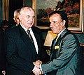 Mikhail Gorbachev with Carlos Menem.jpg