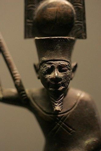 Qift - Min-Amen-ka-Mut-ef, Gebtu male fertility deity - Louvre