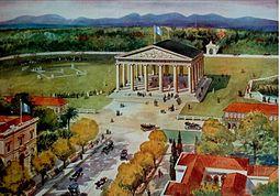 99be80bea83 Templo de Minerva dedicado a la Juventud Estudiosa en la Ciudad de  Guatemala. Grabado de 1905