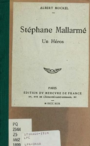 File:Mockel - Stéphane Mallarmé, un héros, 1899.djvu