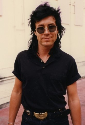 Models (band) - James Freud of Models outside The Roxy in West Hollywood, California, 1986