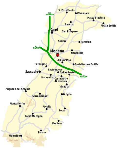 modena karta Модена (провінція)   Wikiwand modena karta