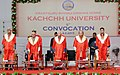 Mohd. Hamid Ansari at the 5th Annual Convocation of the Krantiguru Shyamji Krishna Verma Kachchh University, at Bhuj, in Gujarat. The Governor of Gujarat, Shri O.P. Kohli, the Minister of Education, Gujarat.jpg